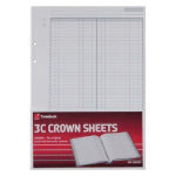 Twinlock Acco 3C Crown Double Ledger Sheets (Pack of 100) 75841