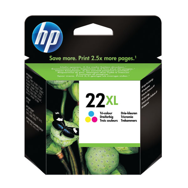 HP 22XL Tri Colour Inkjet Cartridge High Capacity | C9352CE