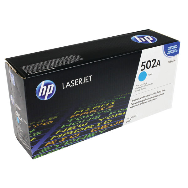 HP 502A Cyan LaserJet Toner Cartridge | Q6471A