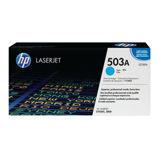 HP 503A Cyan LaserJet Toner Cartridge | Q7581A
