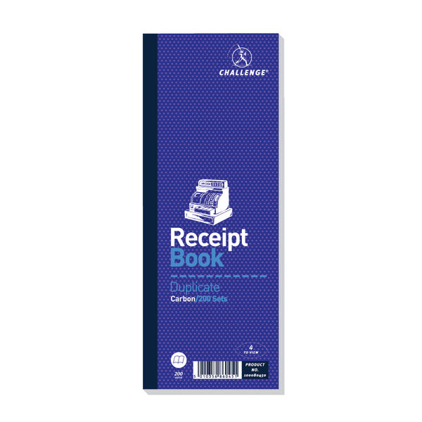 Challenge Receipt Book 241x89 6871 1 Pack of 10 OEM: D86045