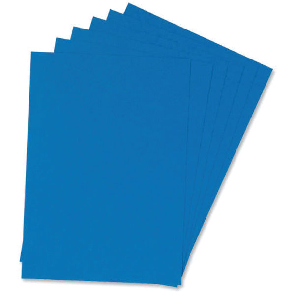Q-Connect A4 Blue Leathergrain Binding Cover Pack of 100 | KF00500