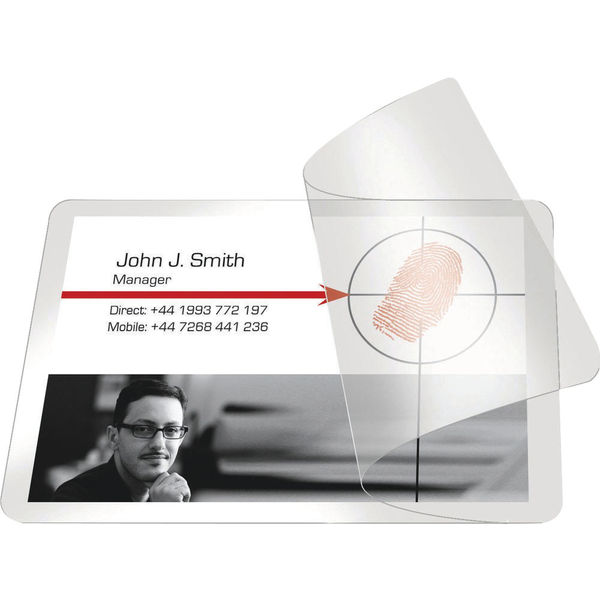 Pelltech 54 x 86mm Self-Laminating Cards, Pack of 100 | PLG25230