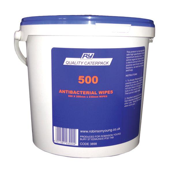 500 ANTI BACTERIAL WIPES 3898 PK500