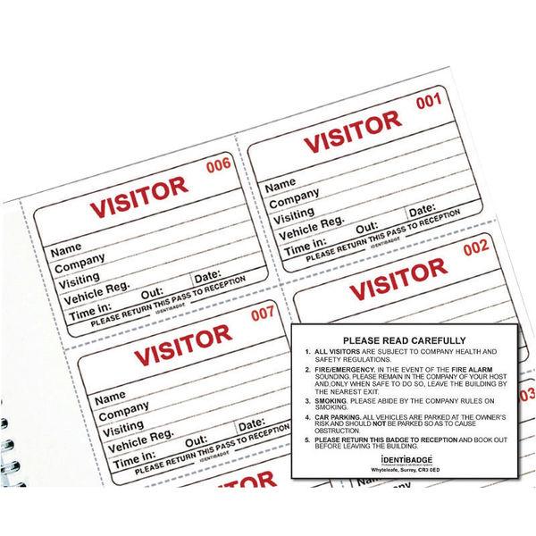 Identibadge Visitors Book Refill IBRSYS