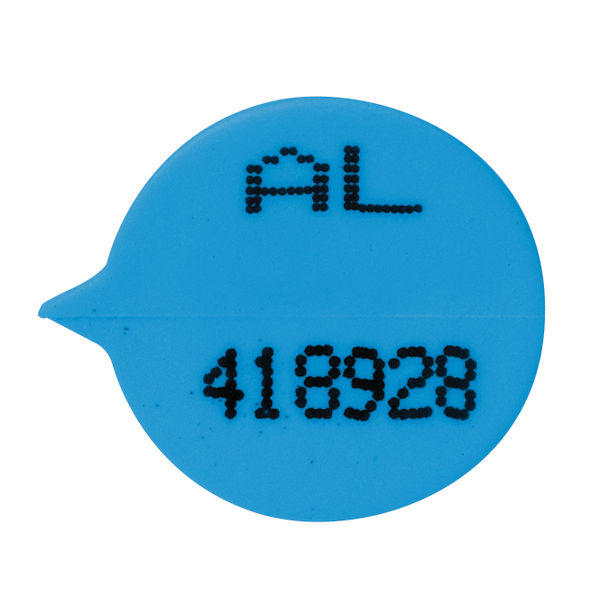 Gosecure Numbered Round Seals Blue Pack of 500 | VAL06850