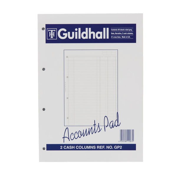Guildhall Acc Pad Cash A4 GP2 OEM: 1587