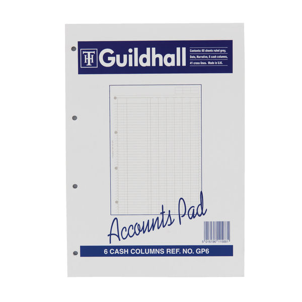 Guildhall A4 Accounts Pad - 081112