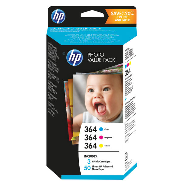 HP 364 Photosmart Photo Value Pack | T9D88EE