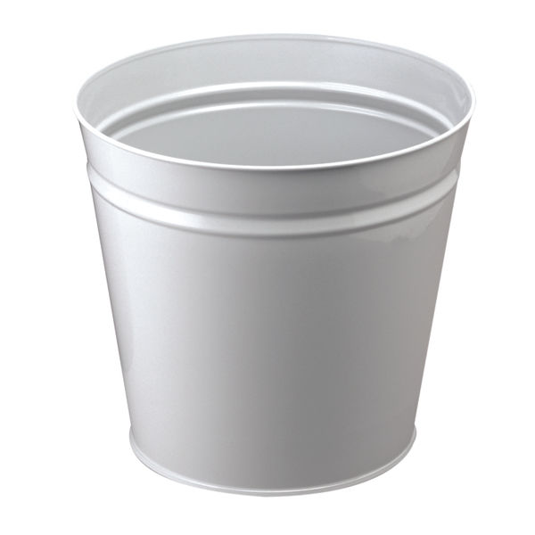 Q-Connect 15 Litre Metal Waste Bin Grey | KF12011