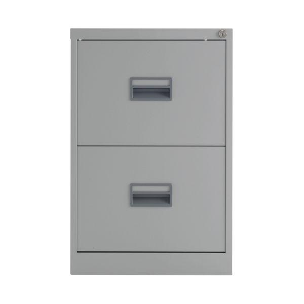 Talos 700mm Grey 2 Drawer Filing Cabinet