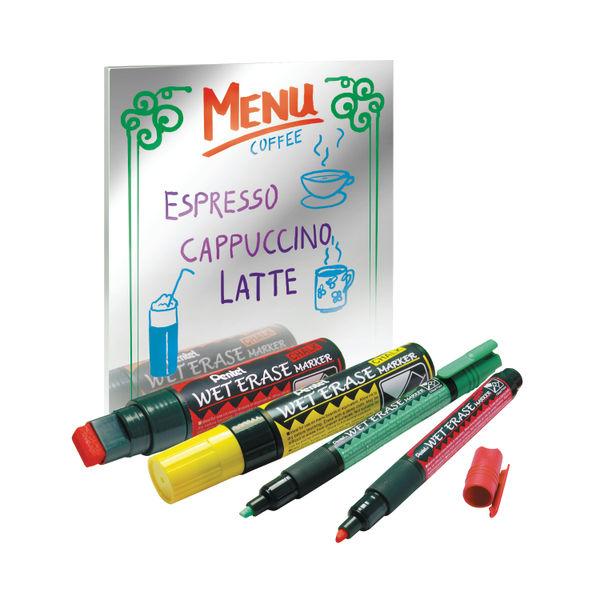 Pentel Assorted Jumbo Liquid Chalk Markers, Pack of 4 - SMW56/4-BCGW