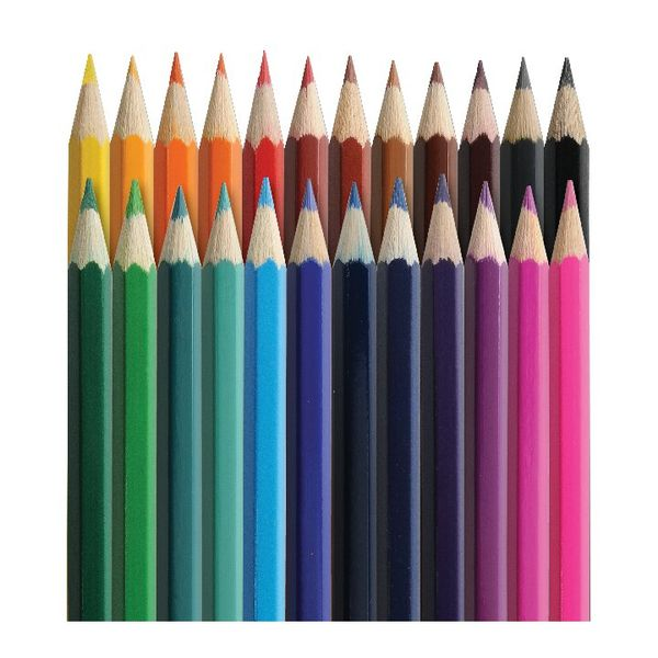 Classmaster Assorted Colouring Pencils, Pack of 24 - CPW24