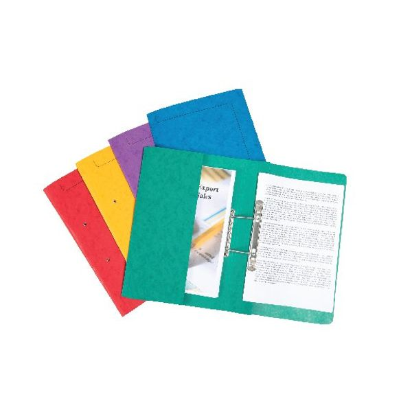Europa Assorted Colours A4 Spiral Pocket Files - Pack of 25 - 3010Z