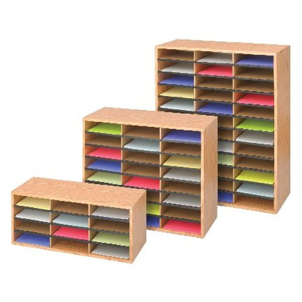Safco Oak 36 Compartment Literature Organiser - 9403MO