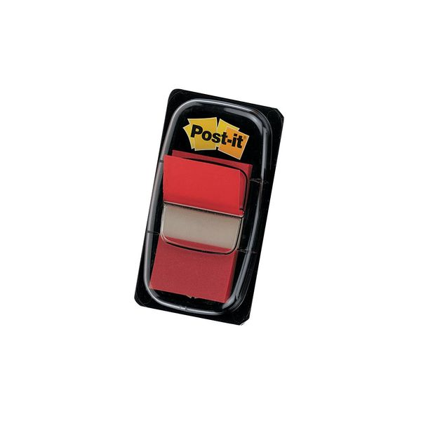 Post-it Red Standard Index Tabs, Pack of 50 - 680-1