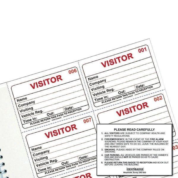 Identibadge System Visitors Book Refill IBRSYS300
