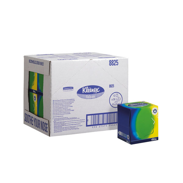 Kleenex Balsam Facial Tissues Cube 56 Sheets (Pack of 12) 8825