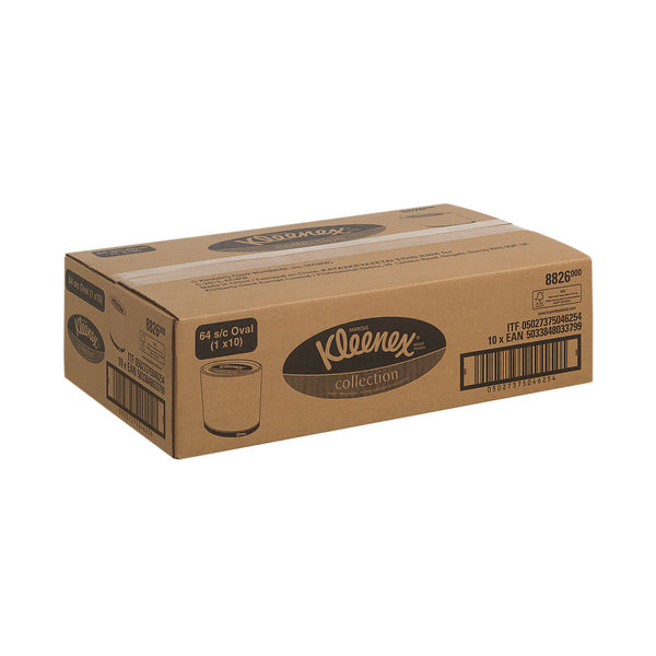 Kleenex Facial Tissue Oval Boxes, Pack of 10 - 8826
