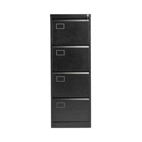 Jemini 1321mm Black 4 Drawer Filing Cabinet