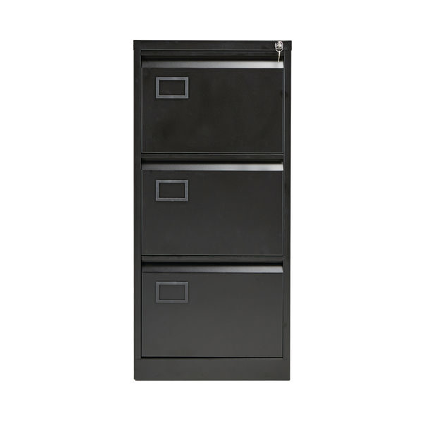 Jemini 1016mm Black 3 Drawer Filing Cabinet