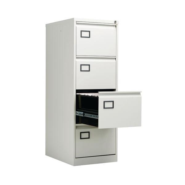 Jemini 1321mm Light Grey 4 Drawer Filing Cabinet