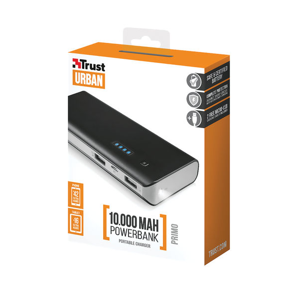 Primo Power Bank 10000mAh USB Portable Charger  21149 (Phone/Tablet)