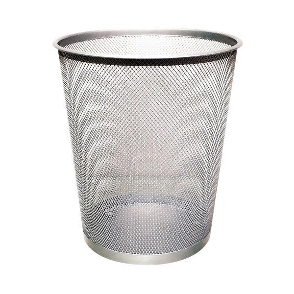 Q-Connect 18 Litre Mesh Waste Basket Silver   KF00849