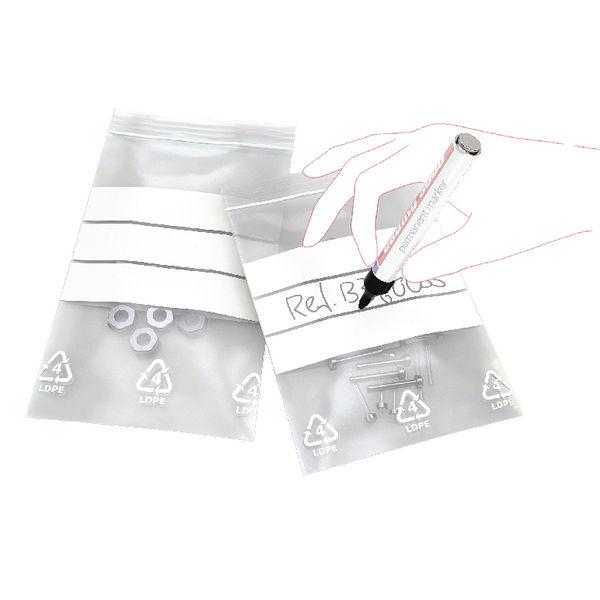 Write-on Minigrip Resealable Bag, 90 x 115mm - Pack of 1000 - GA-123