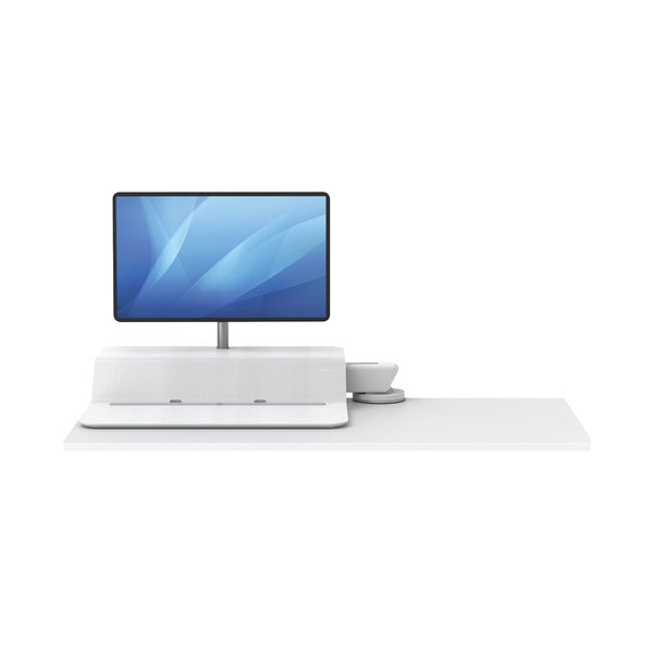 Fellowes Lotus White Single Sit Stand Work Station - 8081701