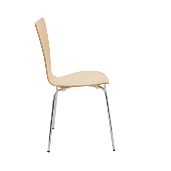Arista Picasso Beech/Silver Wooden Chairs (Pack of 4) - CH0514