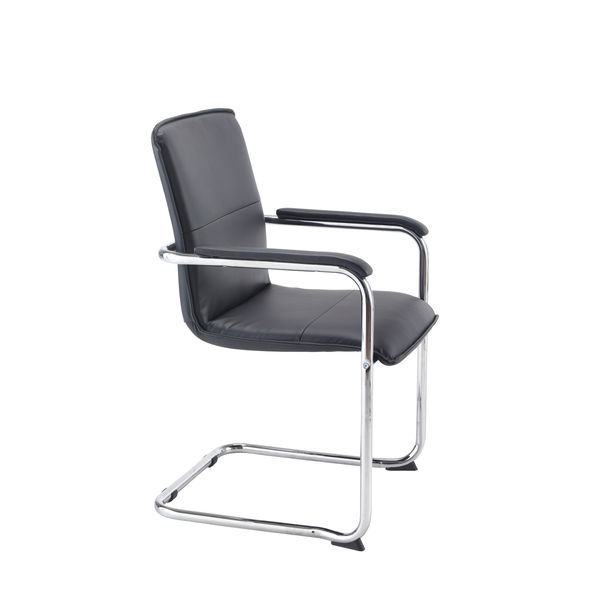 Arista Stratus Tuscany Black Executive Office Chairs, Pack of 2