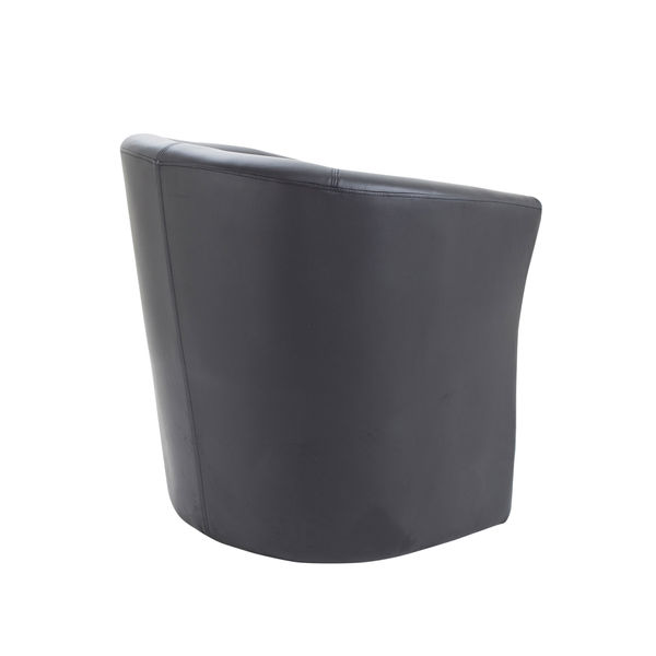 Avior Black Vinyl Tub Chair
