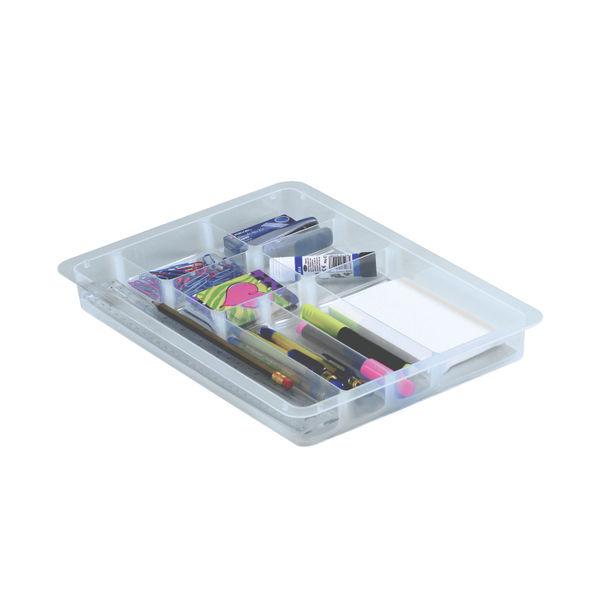 Really Useful Desk Drawer Organiser 4 Litre 395 x 255 x 88mm Clear ODIV4C