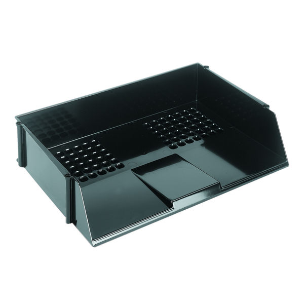 Q-Connect Wide Entry A4 Letter Tray Black | 21688