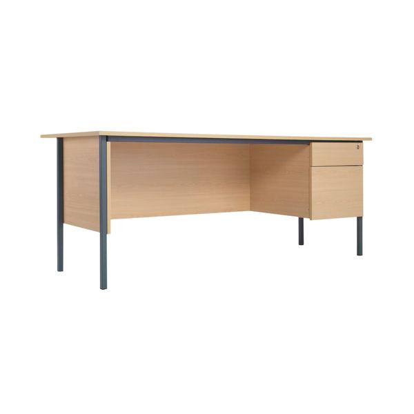 Serrion 1500mm Ferrera Oak 2 Drawer Pedestal 4 Leg Desk