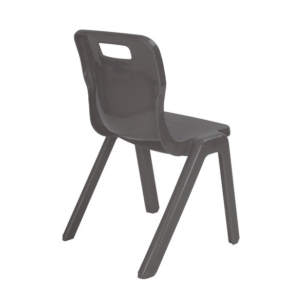 Titan 460mm Charcoal One Piece Chair