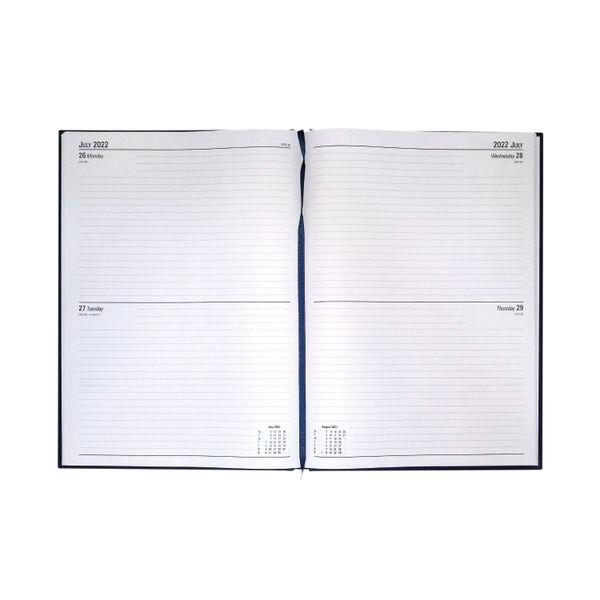 Blue A4 2 Days Per Page 2022 Desk Diary