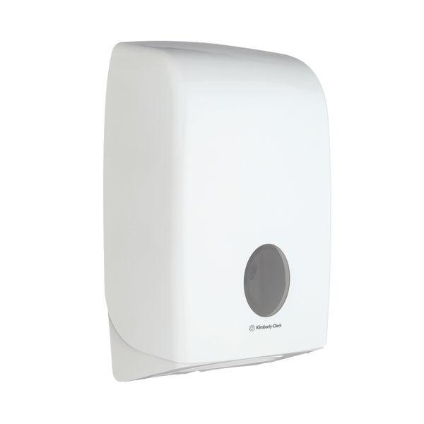 Aquarius Folded Hand Towel Dispenser White 6945