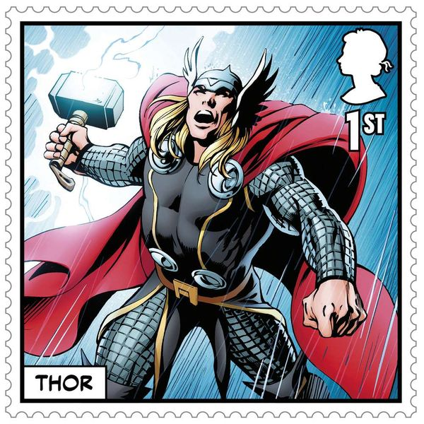 1st Class Stamps x50 (Self Adhesive Stamp Sheet) - Marvel B - AS4123CFS