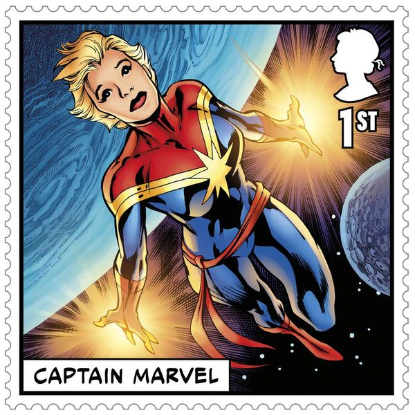 1st Class Stamps x50 (Self Adhesive Stamp Sheet) - Marvel A - AS4123BFS