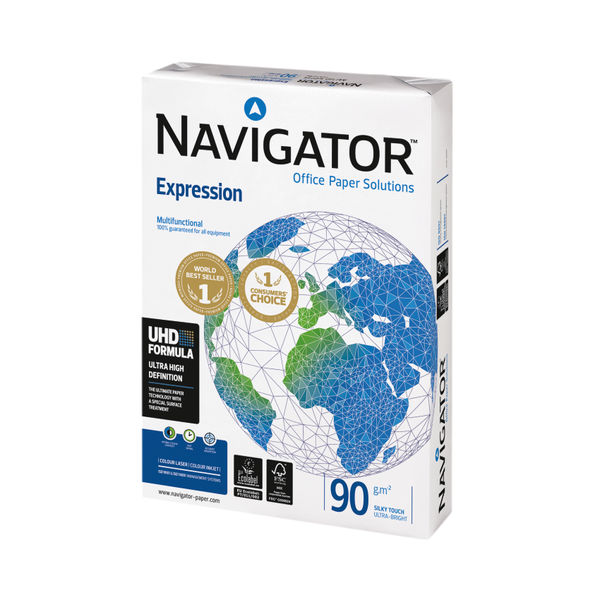 Navigator White A4 Expression Paper 90gsm, Pack of 2500 - NAVA490