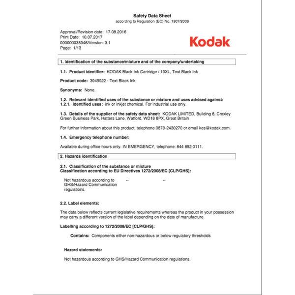 Kodak 10XL Black Ink Cartridge - KD94992