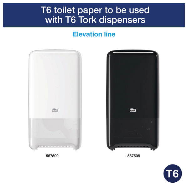 Tork T6 White 2-Ply Soft Mid-Size Toilet Rolls, Pack of 27 - 127520