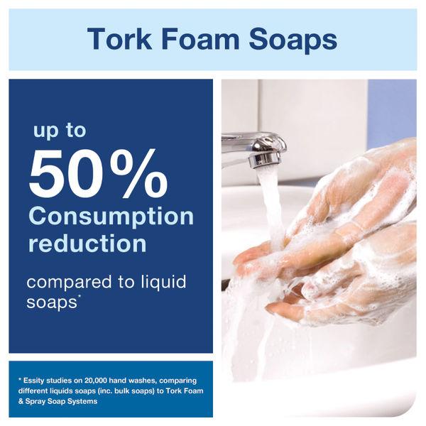 Tork 1 Litre Mild Foam Soap S4 Refills, Pack of 6 - 520501