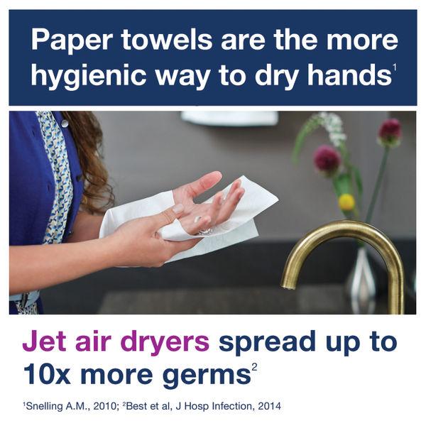 Tork H3 White Singlefold 2-Ply Hand Towels, Pack of 15 - 290163