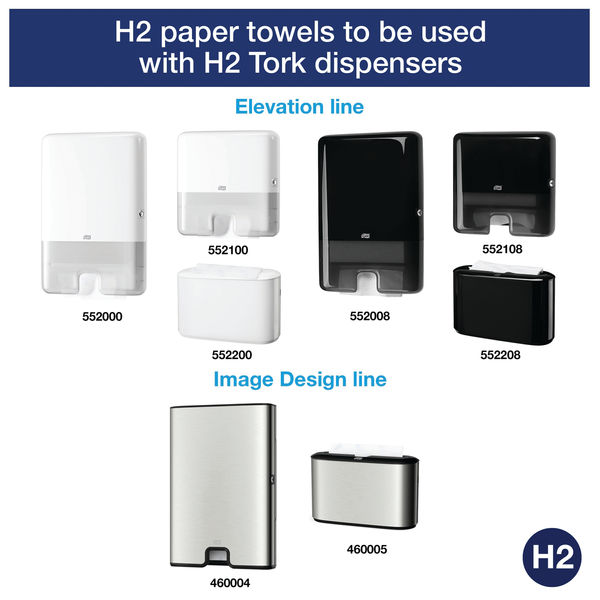 Tork Xpress H2 White 2-Ply Multifold Hand Towels, Pack of 21 - 120289