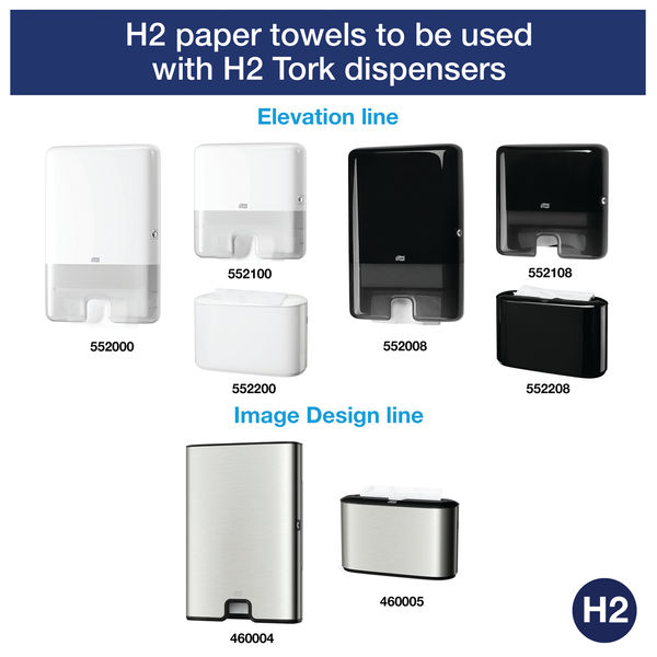 Tork Xpress H2 White 2-Ply Multifold Hand Towels, Pk 21 - 120225