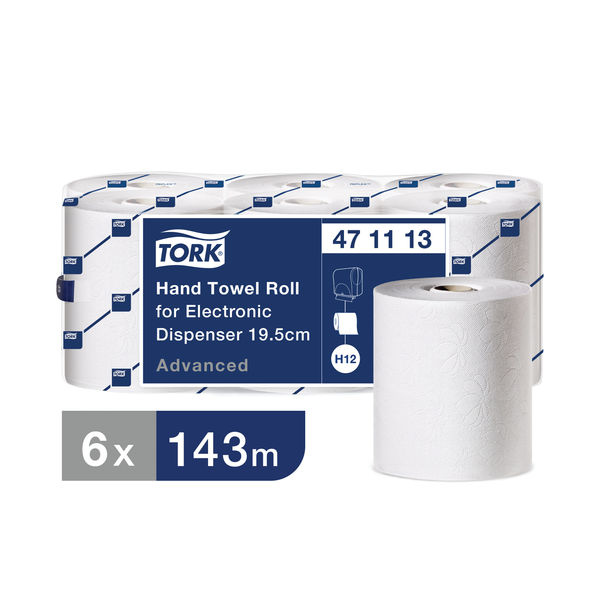 Tork Electronic White 2-Ply Hand Towel Rolls (Pack of 6) - 471113