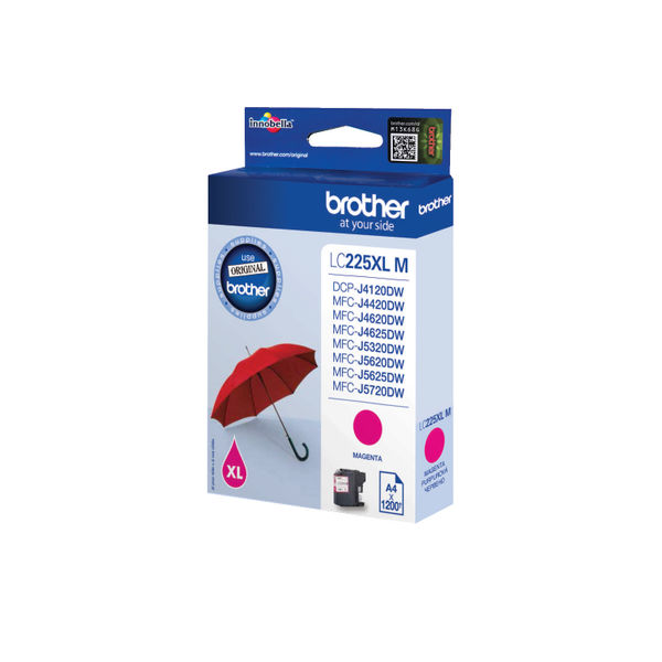 Brother LC225XLM Magenta Ink Cartridge - High Capacity LC225XLM